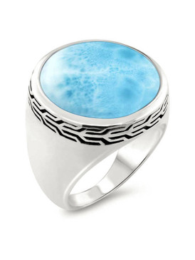 MarahLago Tonela Collection Larimar Ring (Men)