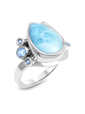 MarahLago Constellation Collection Larimar Ring 3x4
