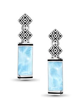 MarahLago Omni Collection Larimar Earrings - 3x4