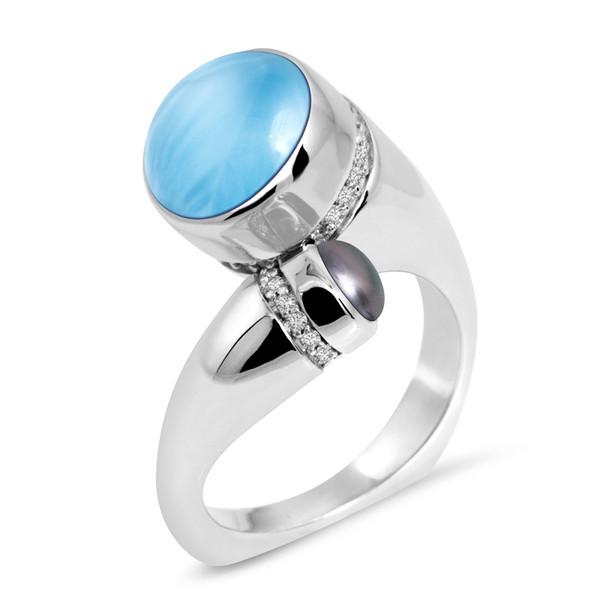 MarahLago Seascape Collection Larimar Ring