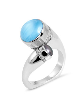 MarahLago Seascape Collection Larimar Ring - 3x4