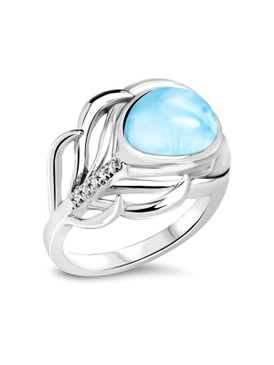 MarahLago Willow Collection Larimar Ring 3x4