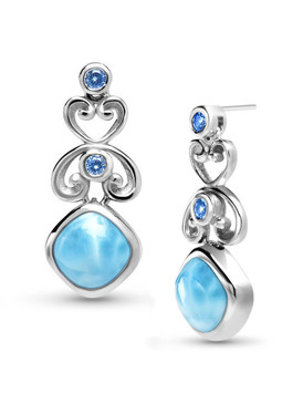 MarahLago Harmony Collection Larimar Earrings