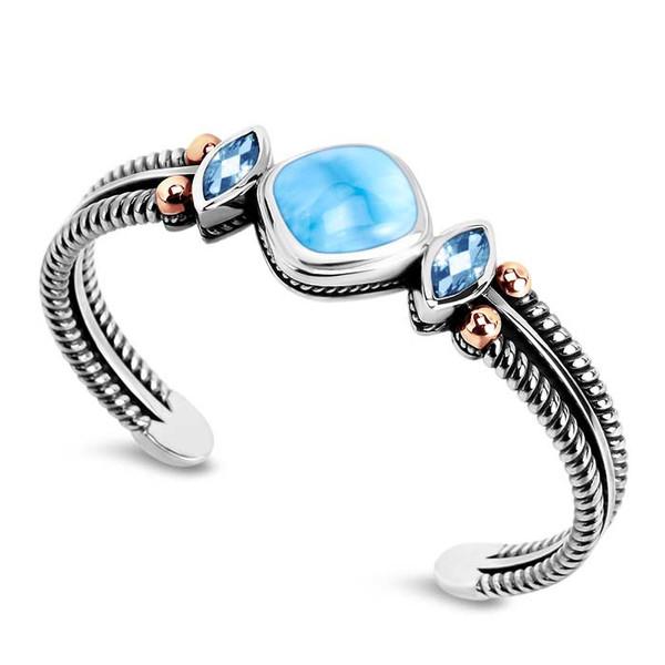 MarahLago Elena Collection Larimar Bracelet with Blue Spinel