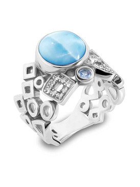 MarahLago Alexandria Collection Larimar Ring - New Design