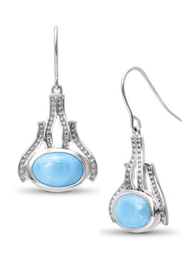 MarahLago Zeta Collection Larimar Earrings - 3x4