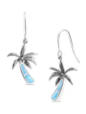 MarahLago SeaLife Collection Larimar Palm Tree Earrings