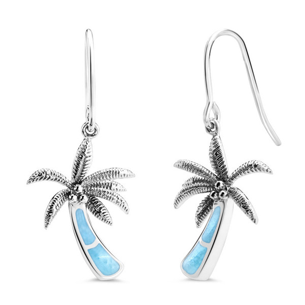 MarahLago SeaLife Larimar Palm Tree Earrings