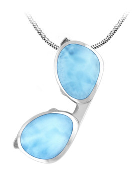 MarahLago SeaLife Larimar Sunglasses Necklace - 3x4