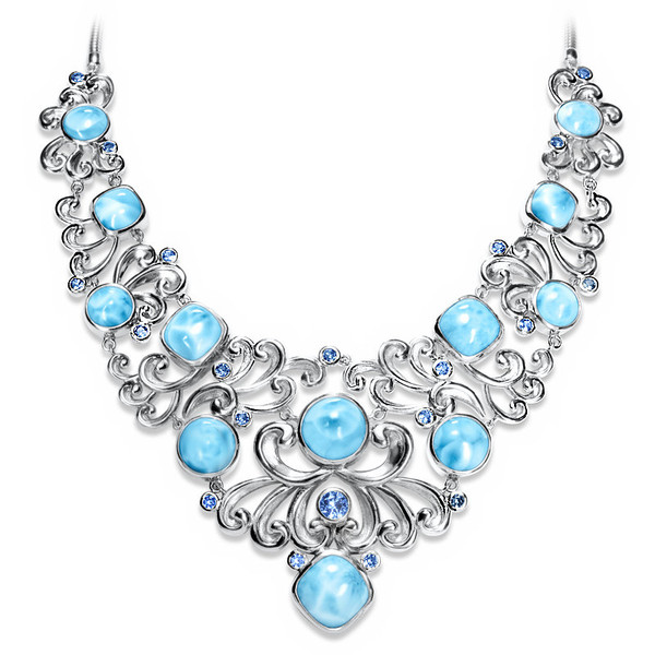 MarahLago Harmony Larimar Necklace with Blue Spinel