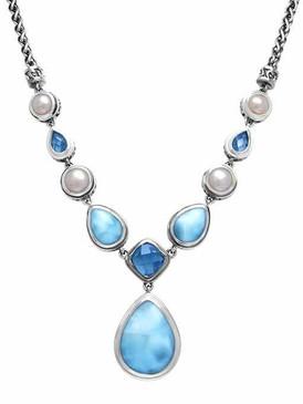 MarahLago Azure Pear Large Larimar Necklace - 3x4