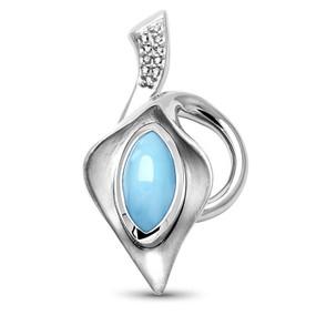 MarahLago Calla Larimar Necklace with White Sapphire