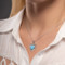 MarahLago Infinity Heart Larimar Necklace with White Sapphire - model 2