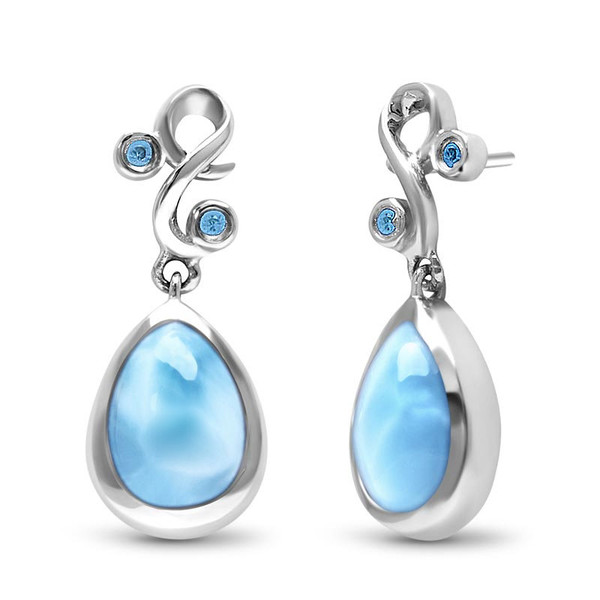 MarahLago Lyric Larimar Earrings with Blue Spinel