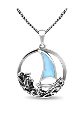 MarahLago Sailboat Larimar Necklace