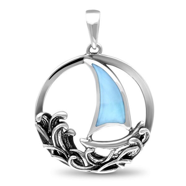 MarahLago Sailboat Larimar Necklace