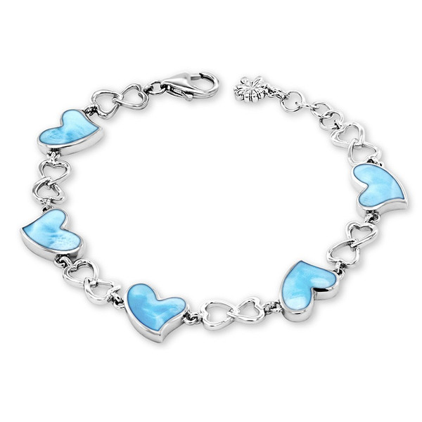 MarahLago Floating Heart Bracelet - Lobster Claw Clasp