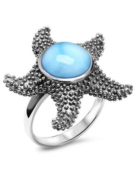 MarahLago Starfish Larimar Ring - 3x4