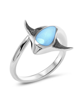MarahLago Stingray Larimar Ring - 3x4