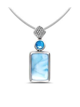 MarahLago Skye Larimar Necklace - 3x4
