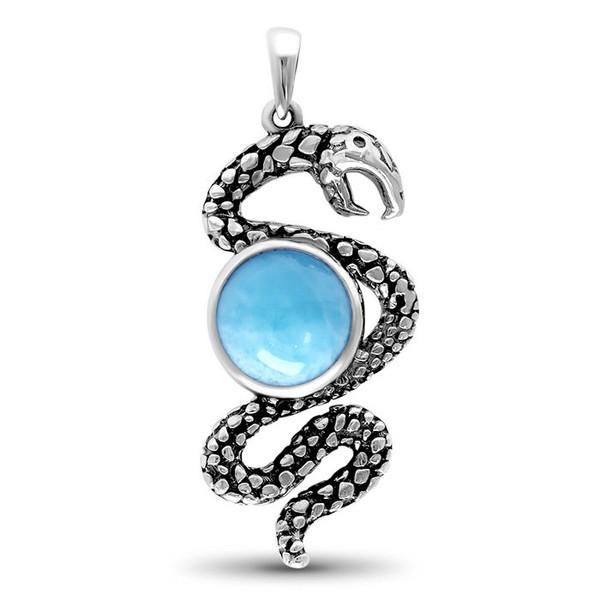MarahLago Small Snake Larimar Necklace