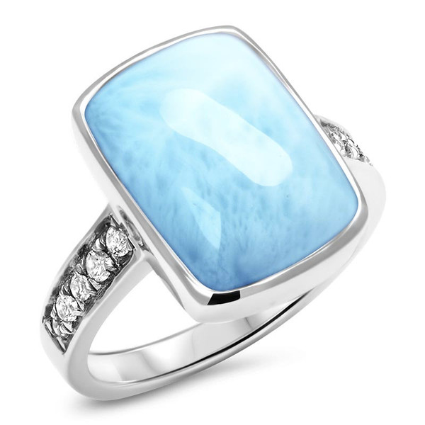 MarahLago Maris Larimar Ring with White Sapphire