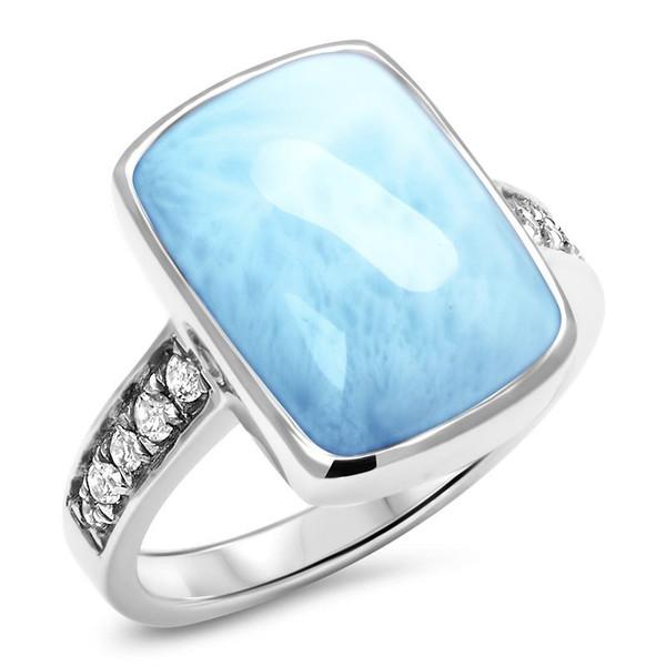 MarahLago Maris Larimar Ring with White Sapphire