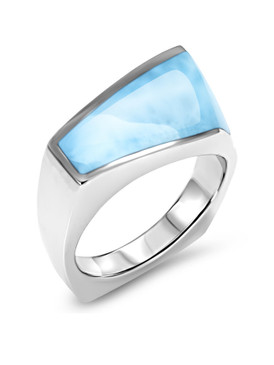 MarahLago Nile Larimar Ring - 3x4