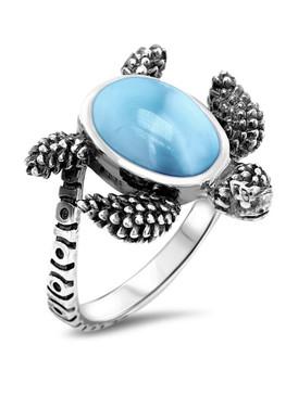 MarahLago Turtle Larimar Ring - 3x4