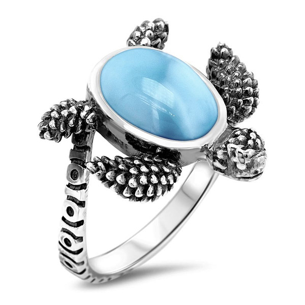MarahLago Turtle Larimar Ring