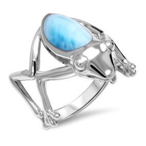 MarahLago Frog Larimar Ring