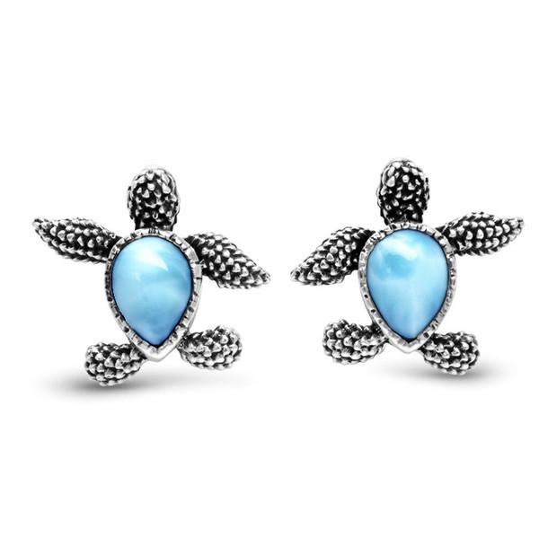 MarahLago Turtle Larimar Earrings