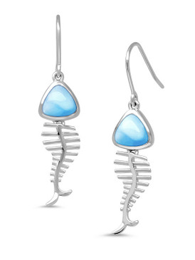 MarahLago Bonefish Larimar Earrings - 3x4