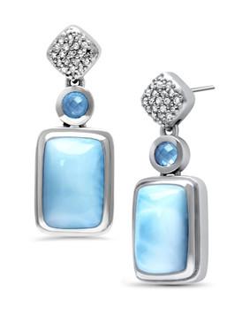 MarahLago Skye Larimar Earrings - 3x4