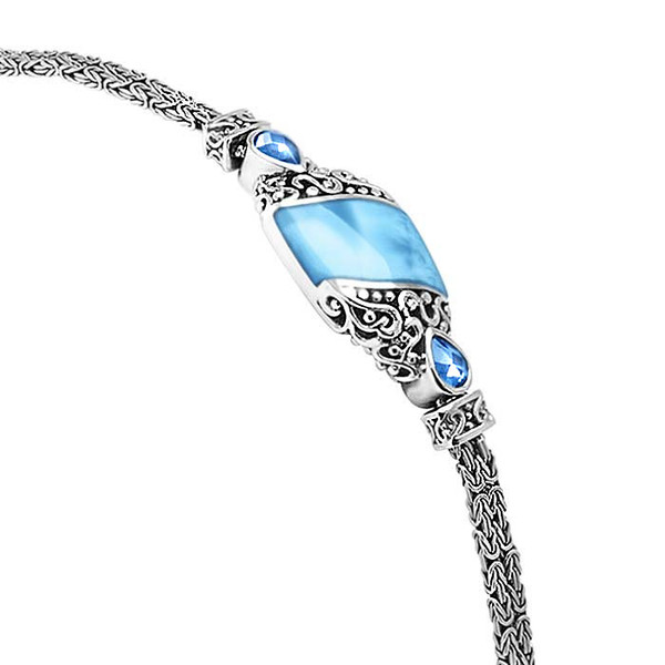 MarahLago Haven Larimar Bracelet with Blue Spinel