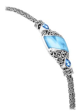 MarahLago Haven Larimar Bracelet with Blue Spinel - 3x4