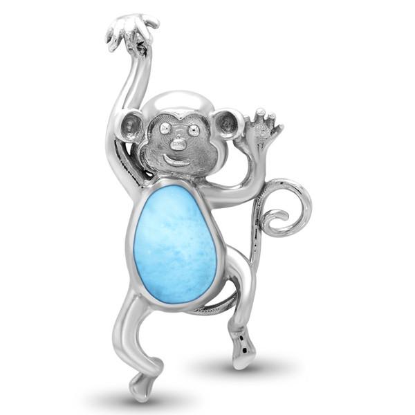 MarahLago Wildlife Monkey Larimar Necklace