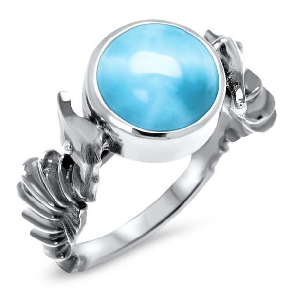 MarahLago Sealife Seahorse Larimar Ring