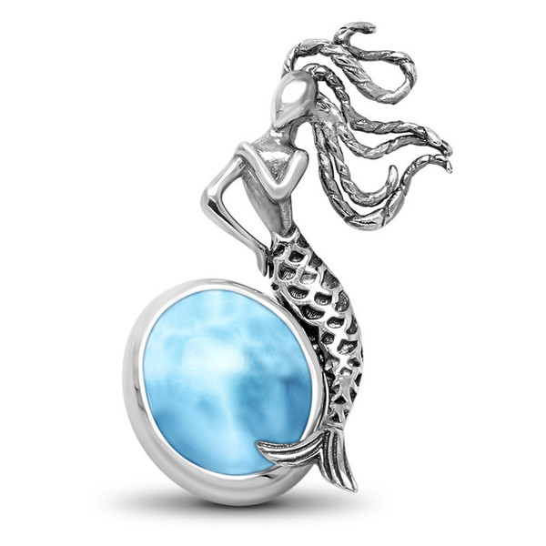 MarahLago SeaLife Mermaid Larimar Necklace