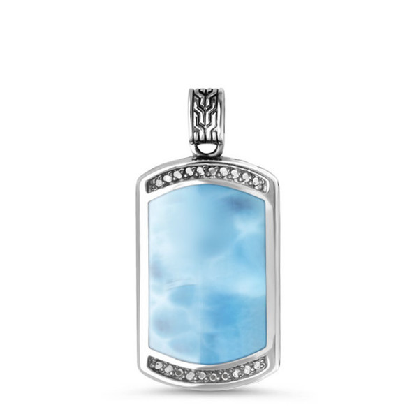 MarahLago Eros Ladies Larimar Necklace with White Sapphire
