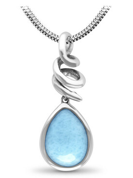 MarahLago Muse Larimar Necklace - 3x4