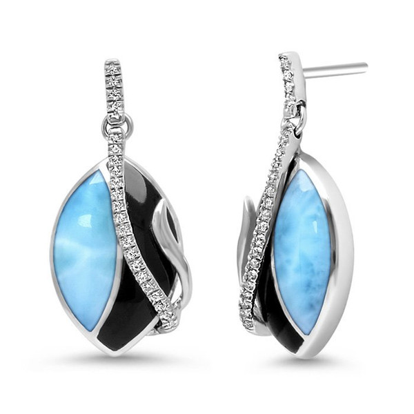 MarahLago Dakota Larimar Earrings with White Sapphire