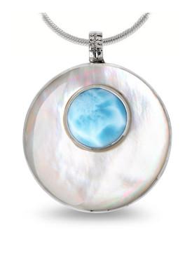 MarahLago Athena Petite Larimar Necklace - 3x4