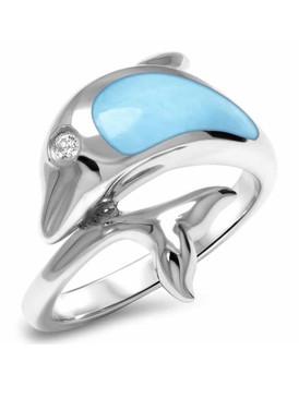 MarahLago Dolphin Larimar Ring - 3x4