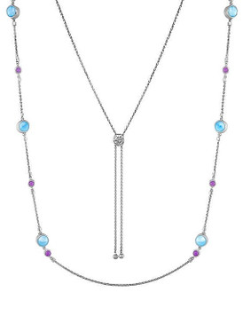 MarahLago Hideaway Larimar Necklace with Amethyst - 3x4