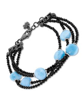 MarahLago Galaxy Bracelet with Black Spinel - 3x4
