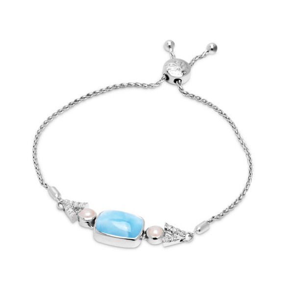 MarahLago Mirage Bracelet with White Sapphire and Pearl