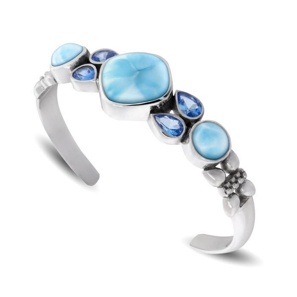 MarahLago Papillon Larimar Bracelet with Blue Spinel