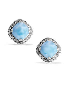 MarahLago Radiance Cushion Larimar Earrings - 3x4