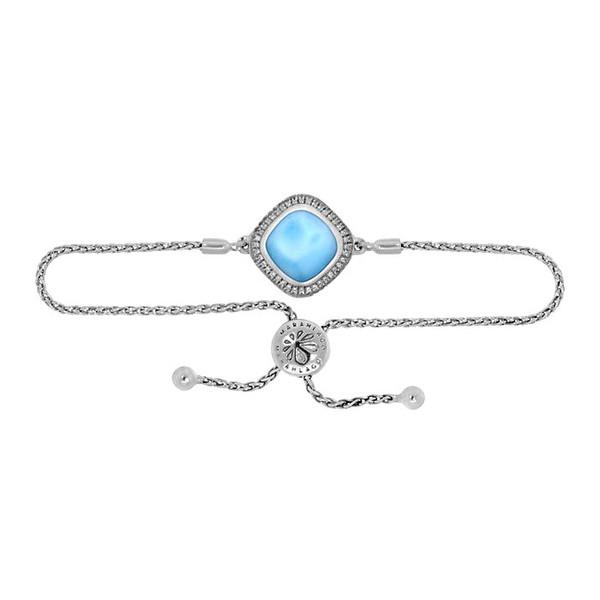 MarahLago Radiance Cushion Larimar Bracelet with White Sapphire
